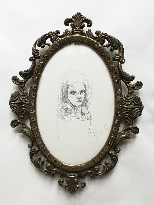 Flower girl -  ORIGINAL drawing