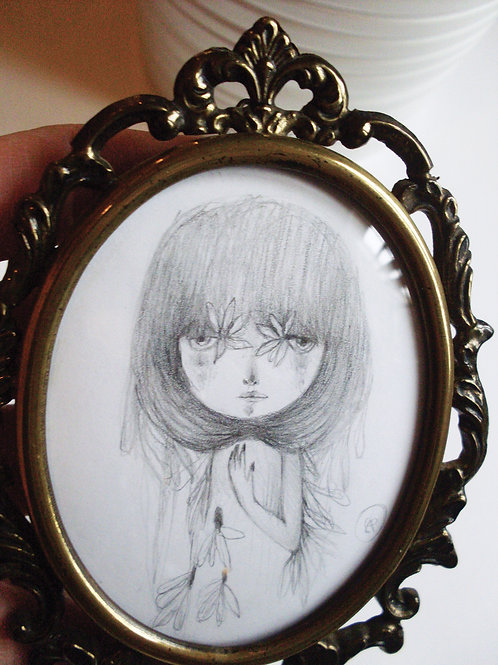 Cecilia -  ORIGINAL drawing -  FREE shipping
