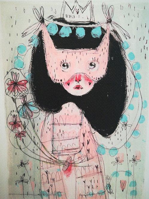 Feel the flowers on the skin-  Fine Art PRINTS