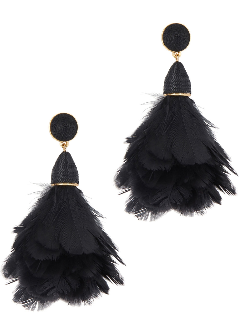 BAUBLEBAR Parisian feather drop earrings