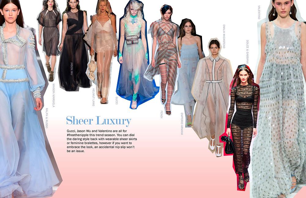 Sheer Luxury - SS18 Trends