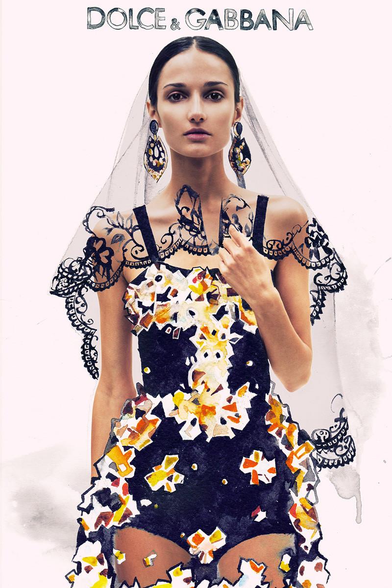 Ink Fabric Editorial Dolce & Gabbana