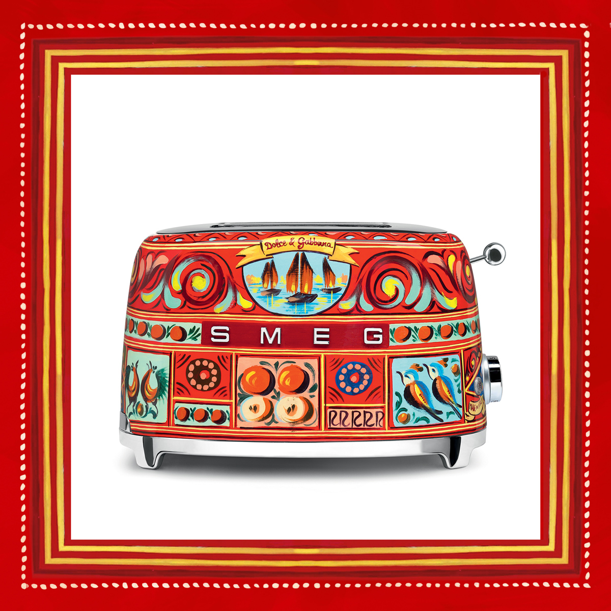 Dolce & Gabbana and Smeg collaboration Toaster framed