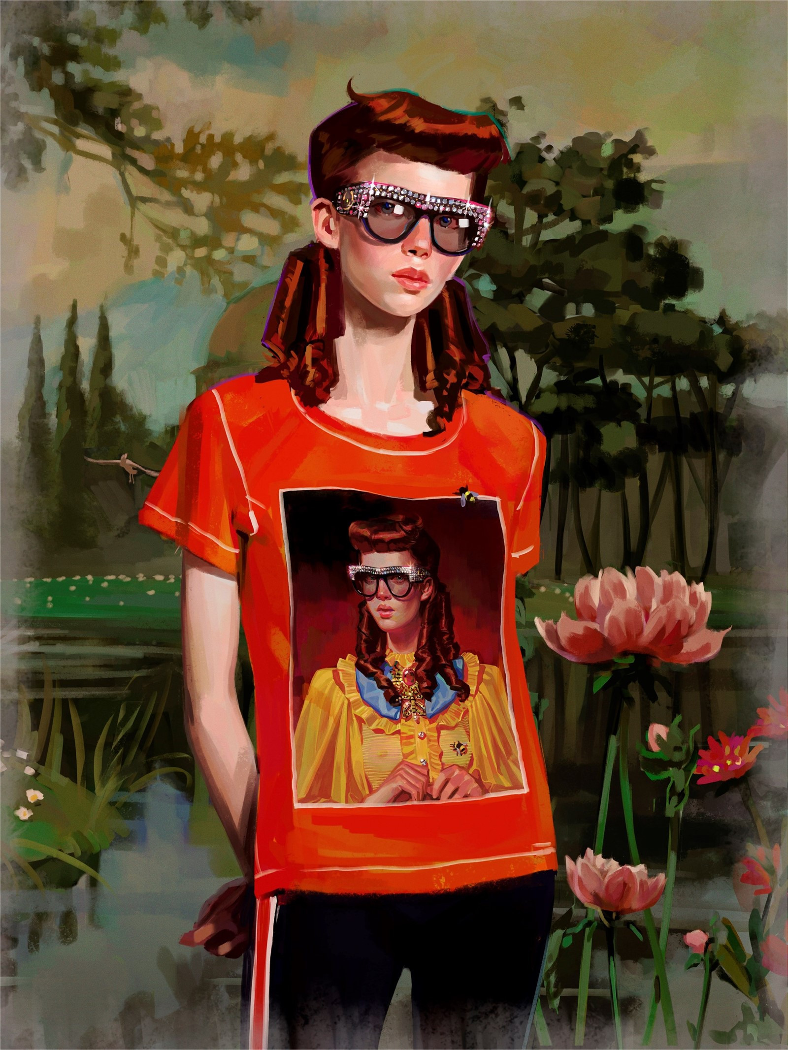 Gucci Gift Giving 2017: Digital painting by Spanish artist and illustrator Ignasi Monreal.