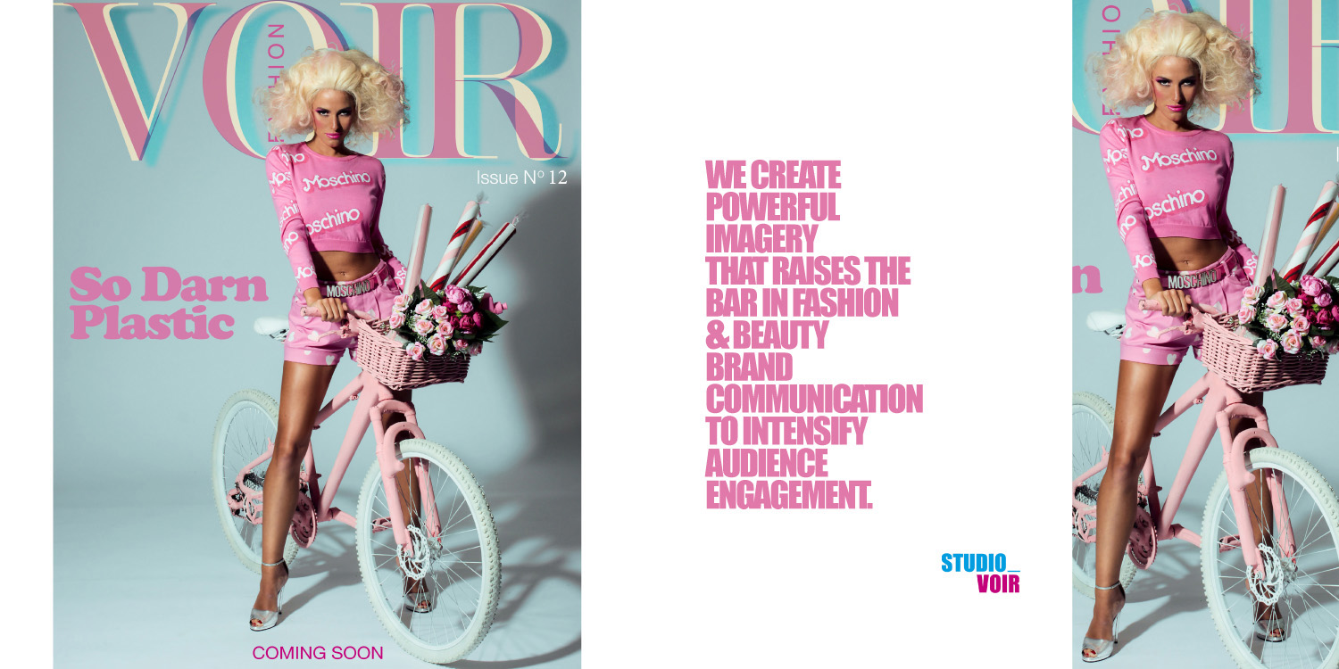 The World of Studio Voir Coming Soon cover for Voir Fashion magazine Issue 12
