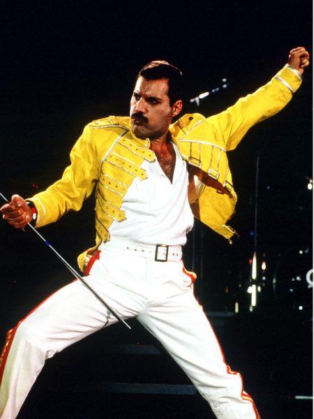 Freddie Mercury concert yellow jacket 1986