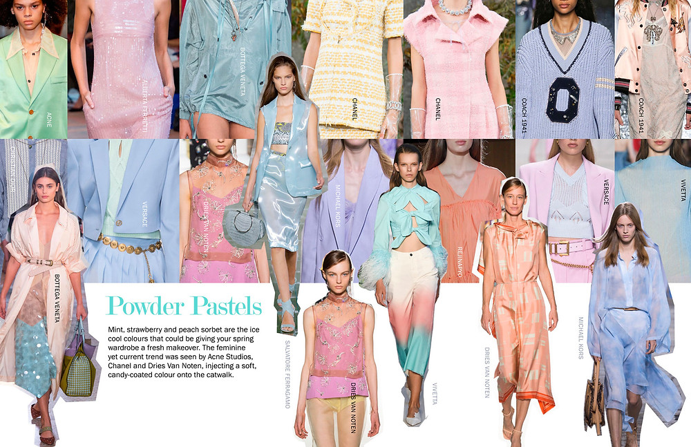 Powder Pastels - SS18 Trends