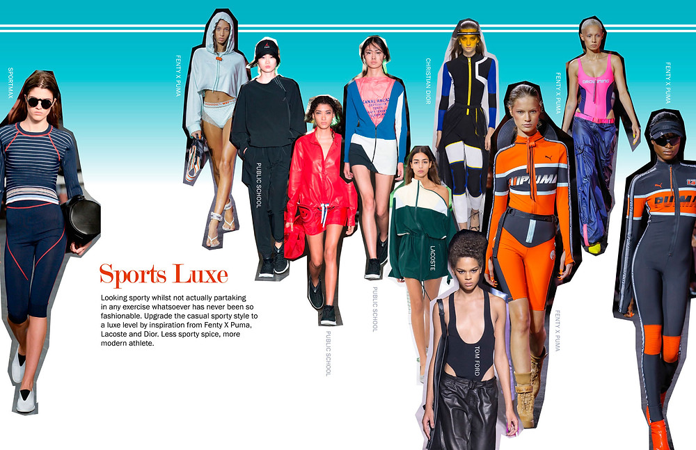 Sports Luxe - SS18 Trends