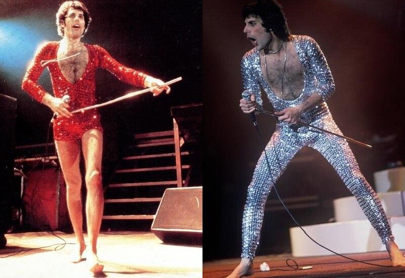 Freddie Mercury Glitter suits 1970s