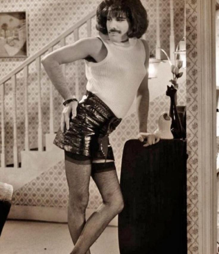 Freddie Mercury on the set of 'I Want To Break Free' video, 1984