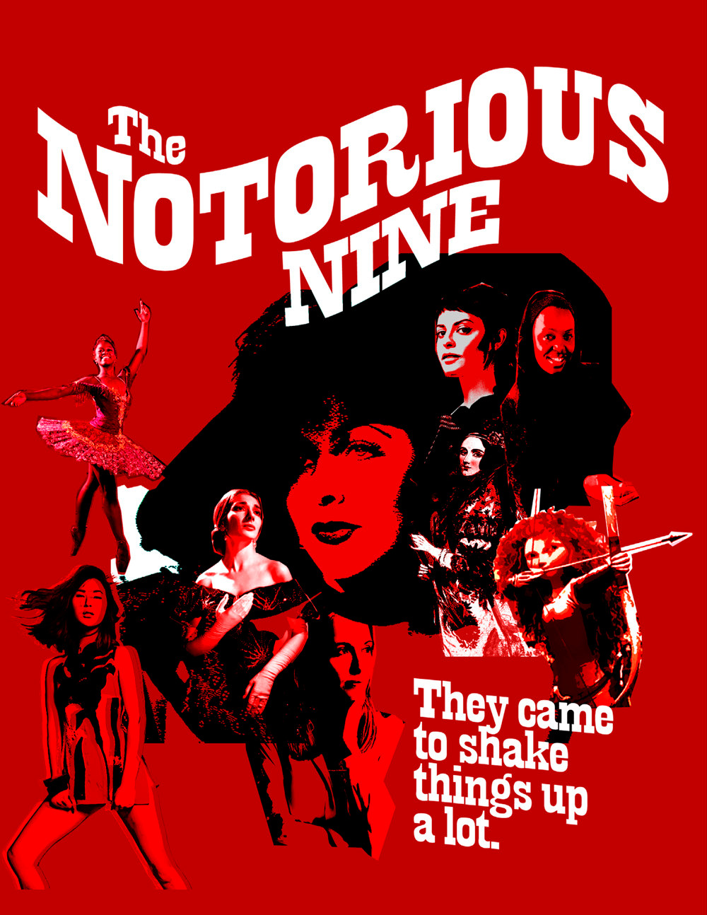 The Notorious Nine: Poster Cover Voir Fashion Magazine