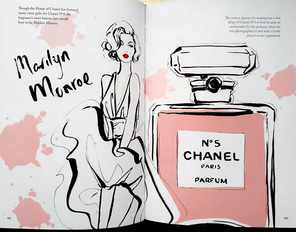 Marilyn Monroe & Chanel No.5 by Megan Hess