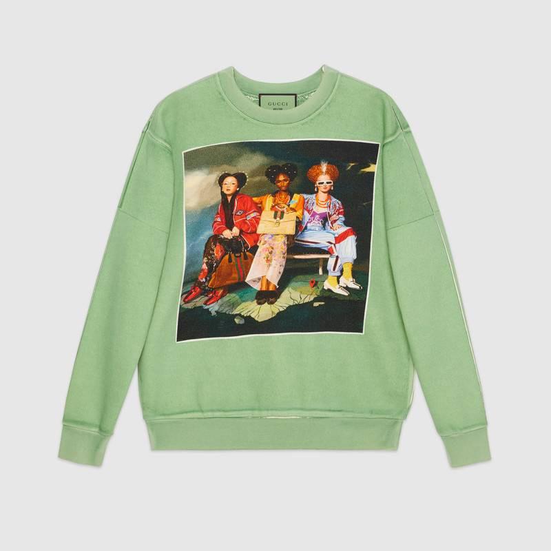 #GucciHallucination print sweatshirt