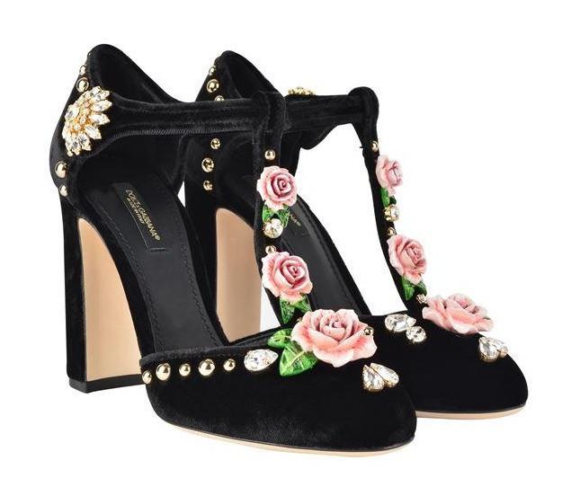 DOLCE & GABBANA Valley Rose Heeled Sandals