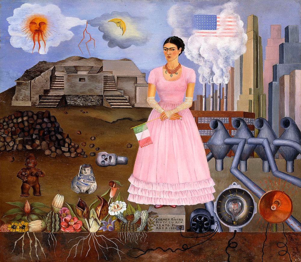 Self-portrait on the Border between Mexico and the United States of America, Frida Kahlo, 1932 (c) Modern Art International Foundation (Courtesy María and Manuel Reyero)