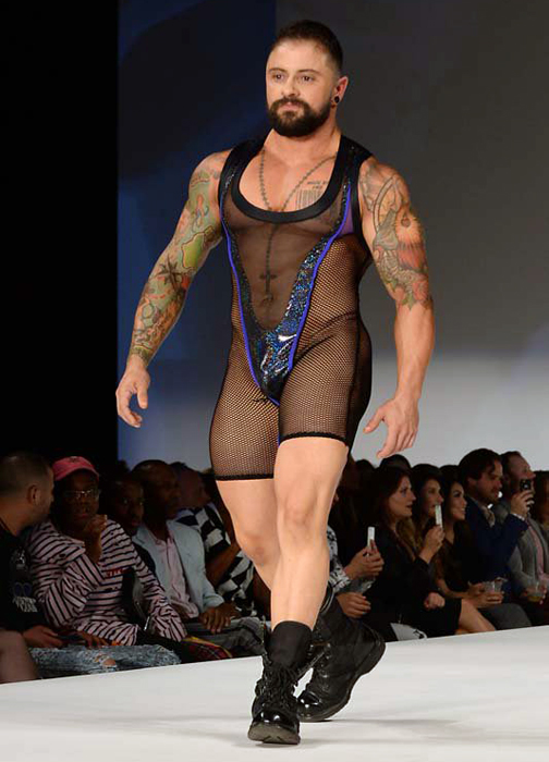 All trans models strutting on the runway for the Marco Marco show at NYFW