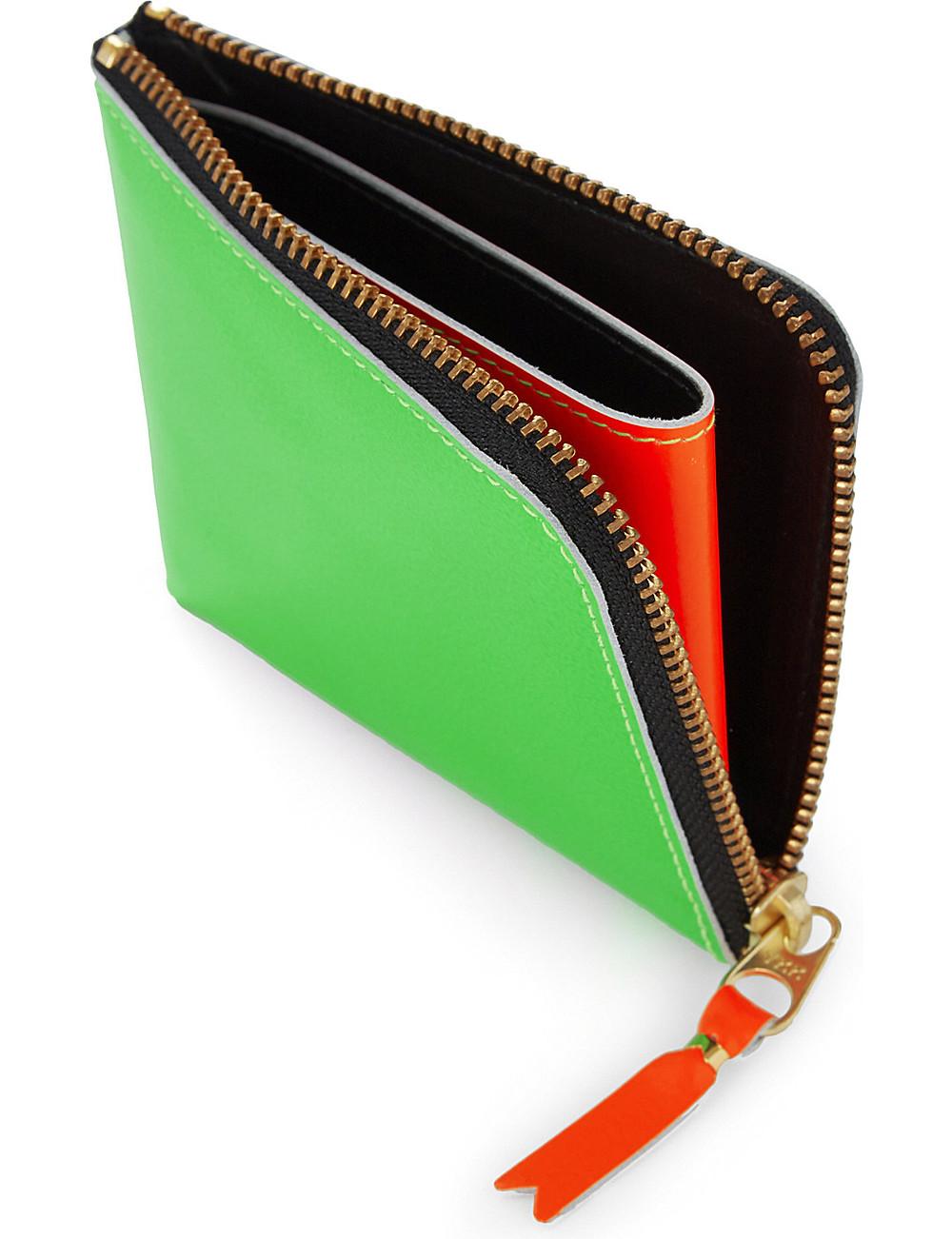 Comme des Garçons Leather half zip wallet
