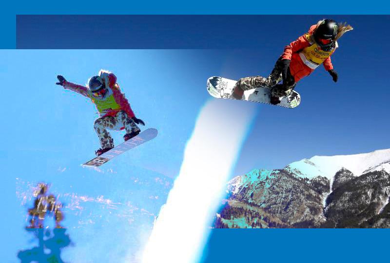 Chloe Kim in flight