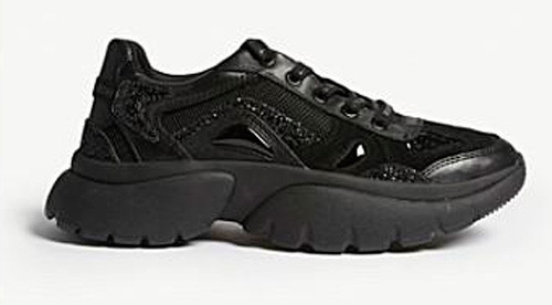 Maje leather faster trainers