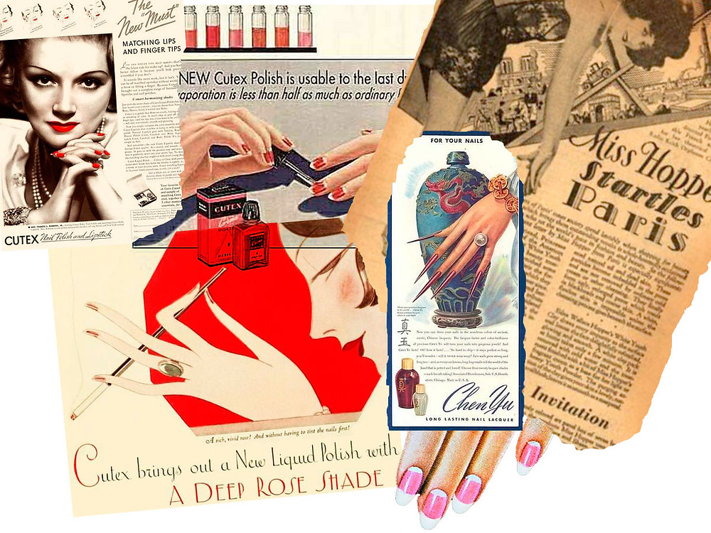 1920s and 30s manicure appreciation - photomontage