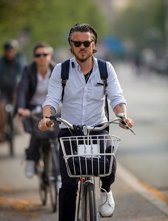 Being seen is part of the cycling experience - this man knows it