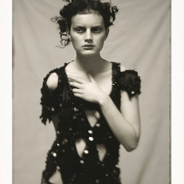 Paolo Roversi Italian, born 1947 Guinevere in Black Dress by Yohji Yamamoto, Paris, negative, 1996; printed later Pigment print 51.8 x 40 cm (20 3/8 x 15 3/4 in.) The J. Paul Getty Museum, Los Angeles, Purchased with funds provided by the Photographs Council © Paolo Roversi 2016.96