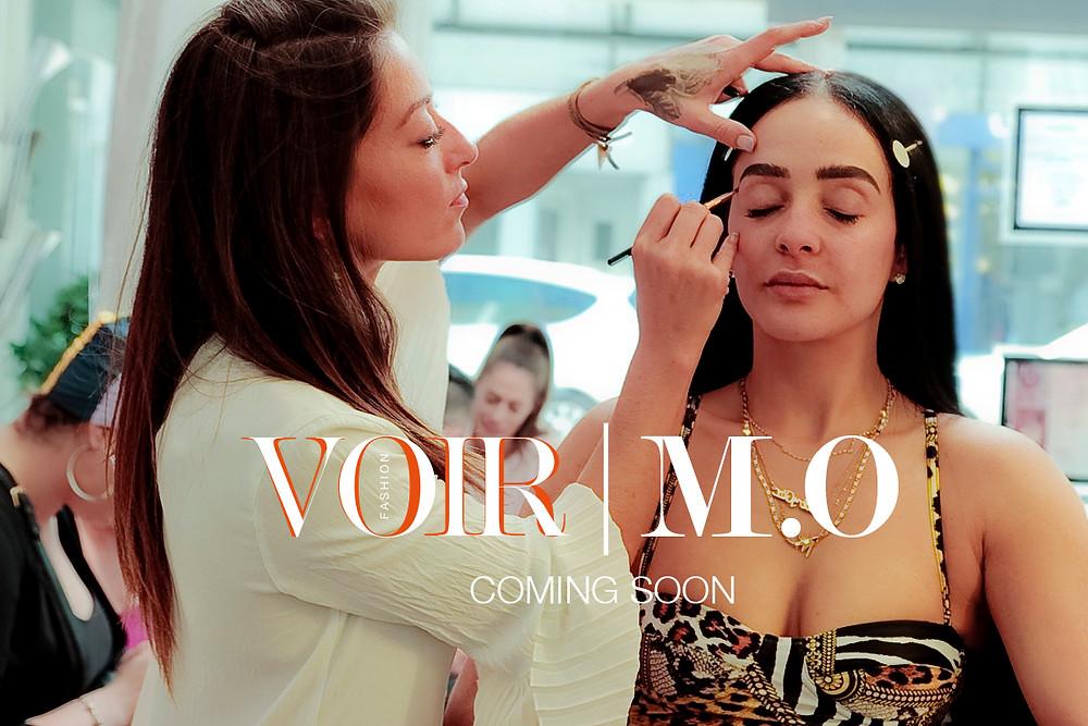 Loren Owen - MLA applies makeup to Annie [M.O] backstage