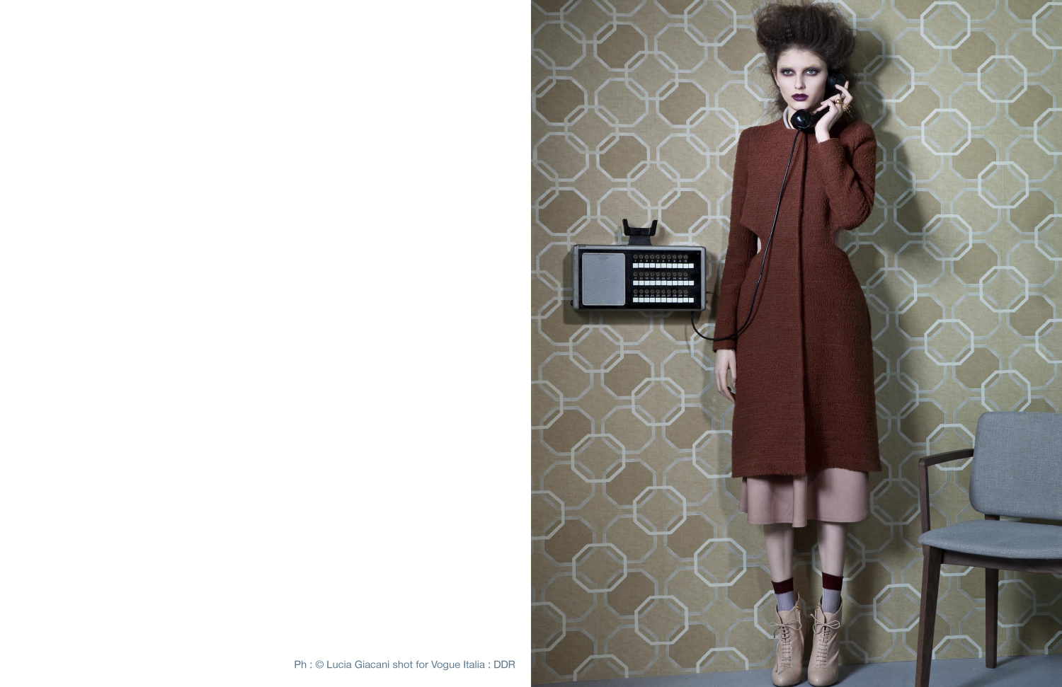 Voir Fashion Magazine Issue 8 - In Focus feature Ph : © Lucia Giacani shot for Vogue Italia : DDR