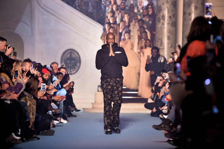 Virgil Abloh at Off White AW18 runway show