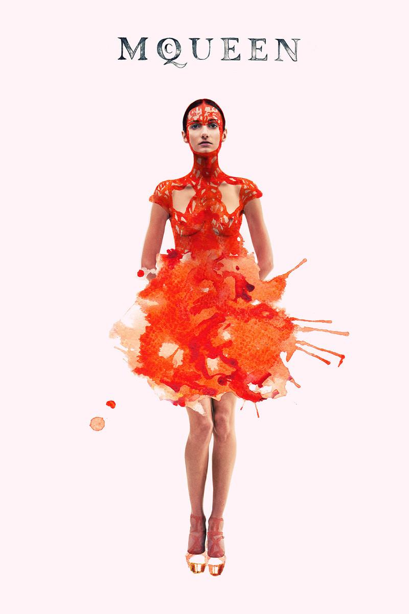 Ink Fabric Editorial McQueen