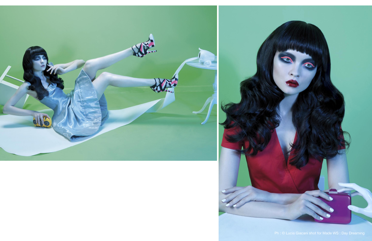 Voir Fashion Magazine Issue 8 - In Focus feature Ph : © Lucia Giacani shot for Made WS : Day Dreaming