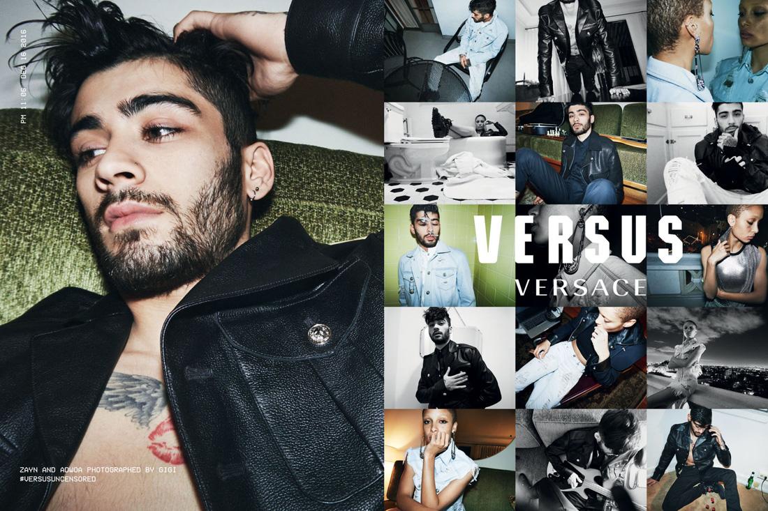 Versus versace SS17 campaign featuring Zayn Malik