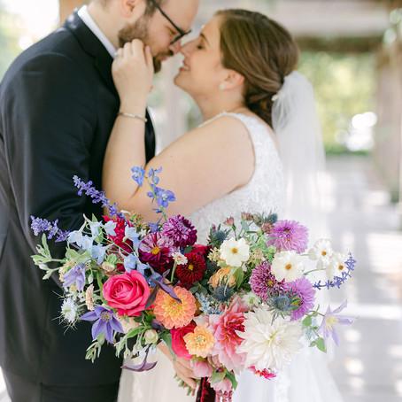 C + M's vibrant micro wedding