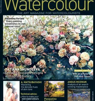I am in the French Magazine Watercolour #34