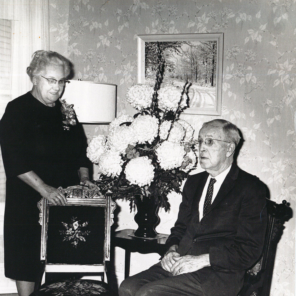 Harvey Johnston and his wife Ruby