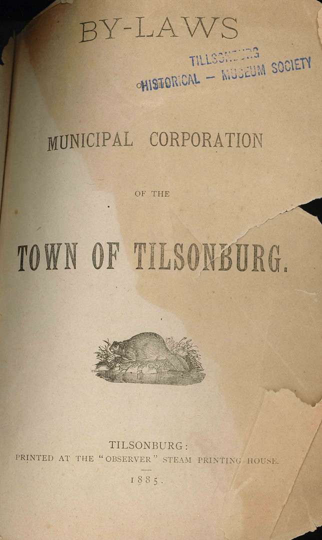 By-Laws 1885