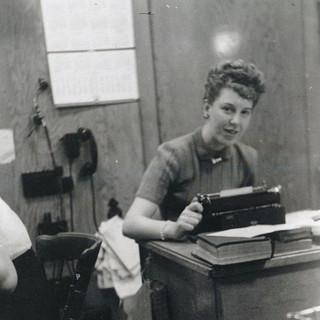 Ellen at the News Office