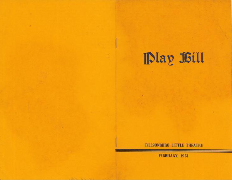 Tillsonburg Little Theatre Playbill