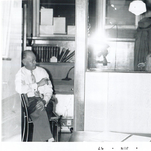 H. F. Johnston in his office