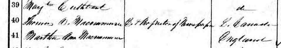 1861 Census closeup