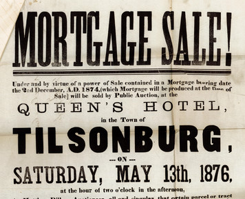 Mortgage Sale Poster Top Half