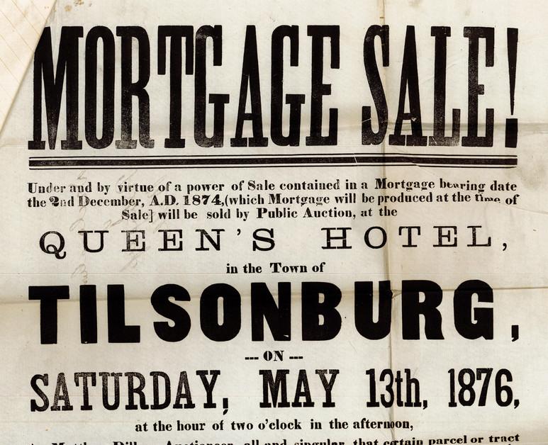 Mortgage Sale Poster Top Half
