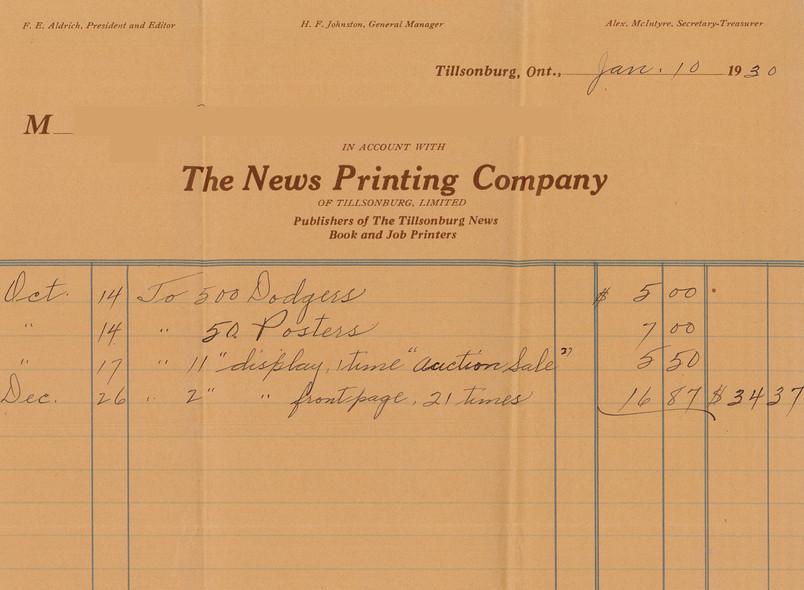 News Company Invoice