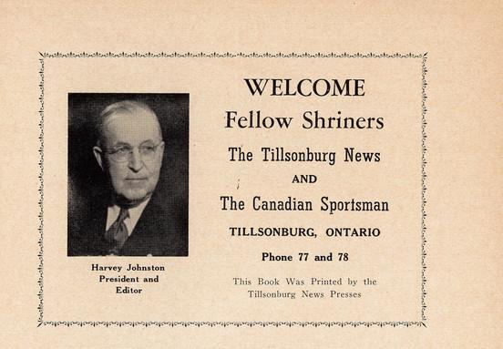 Shriners Program Ad