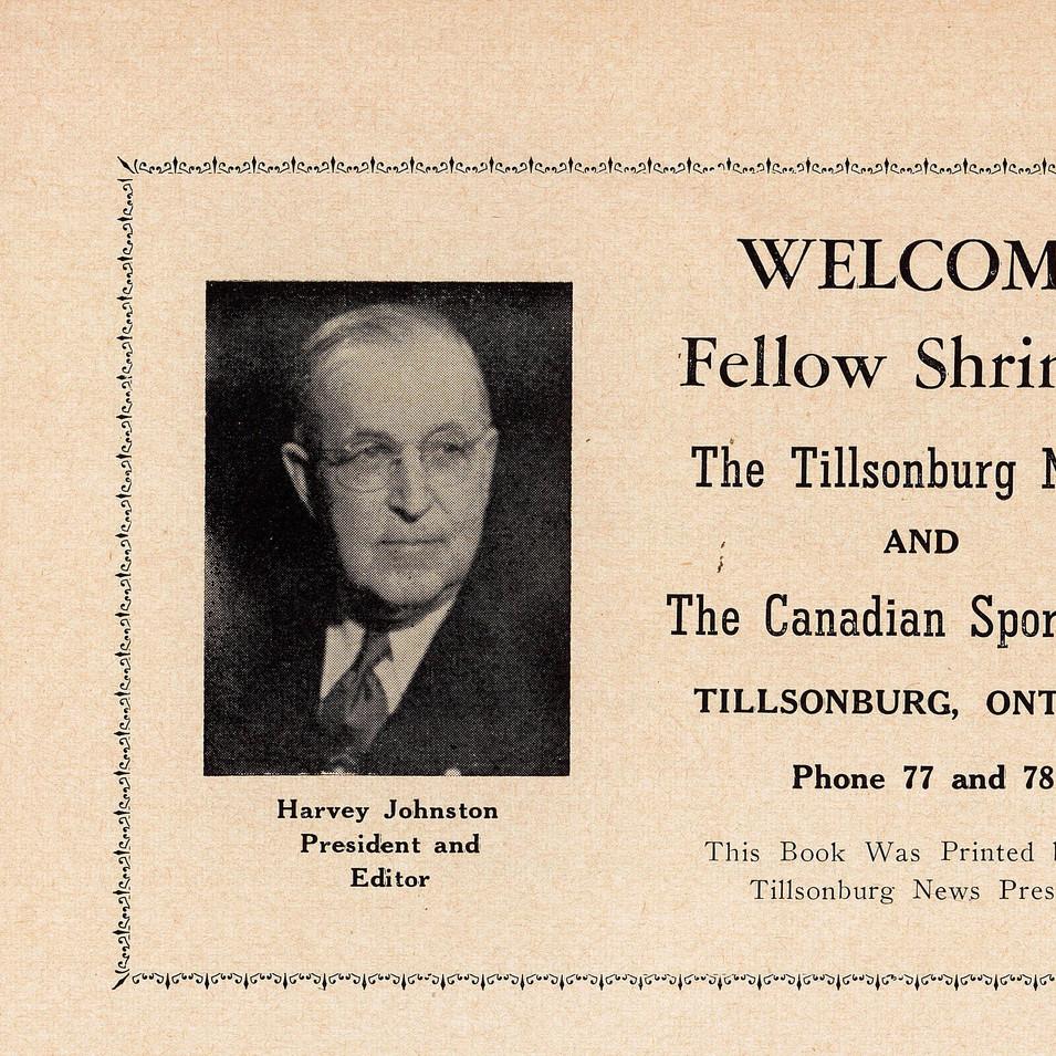 1956 Shriners Program