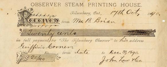 1890 Receipt