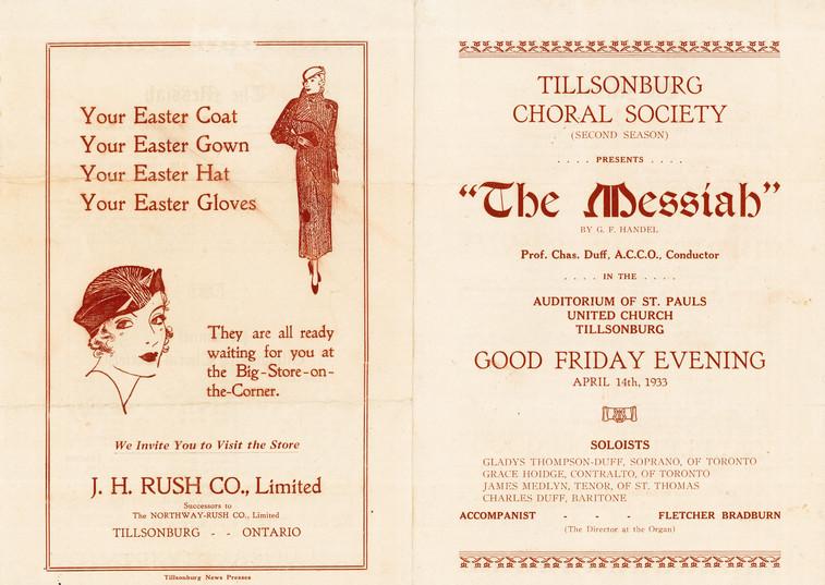 """The Messiah"" Program"