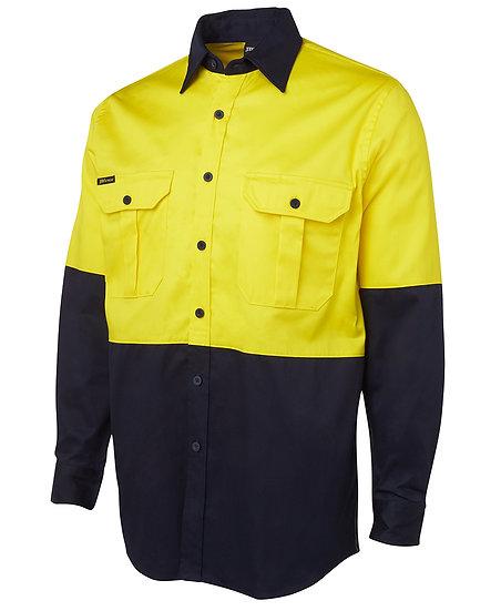 6HWL Hi Vis 190G L/S Work Shirt