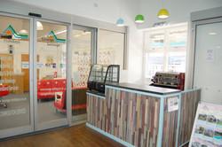 Coffee shop landscape image