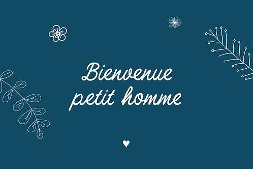"""Carte de voeux """"Petit homme"""""""